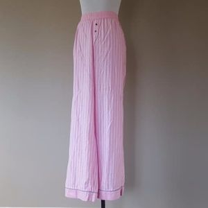 Pink Stripes Silver Shot Sleep Pants Medium
